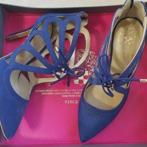 Vince Camuto Blue lace up Heels